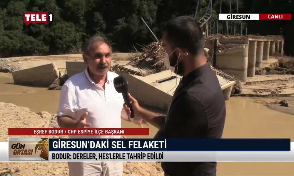 """TELE1 sel felaketinin yaşandığı Giresun'da: """"İnsanlar yardım çığlıkları atarken kimse yoktu"""""""