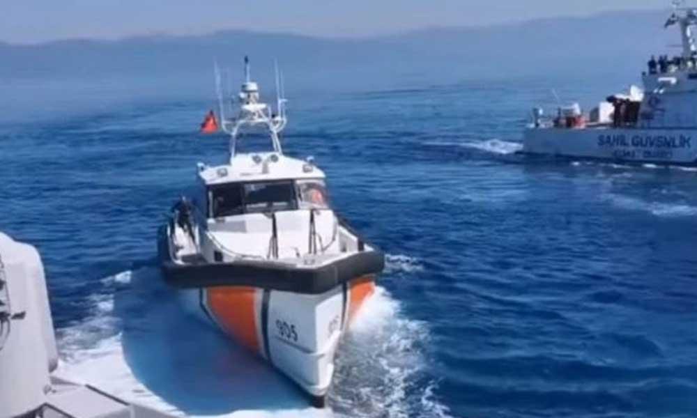 Yunan ve Türk gemileri çarpıştı