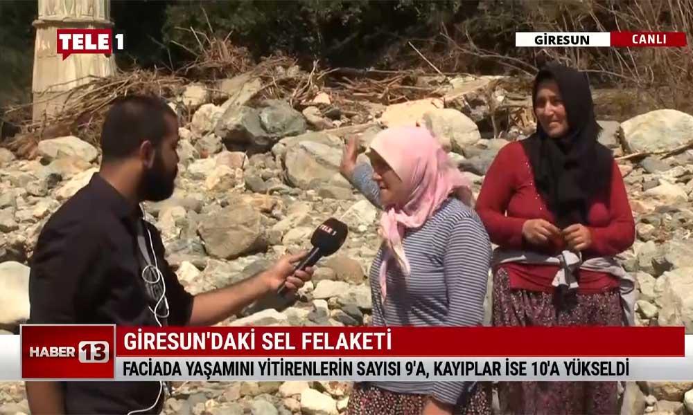 """TELE1 sel felaketinin ardından Giresun'da: """"Kimse ne yardıma geldi, ne ilgilendi; Süleyman Soylu baktı gitti"""""""