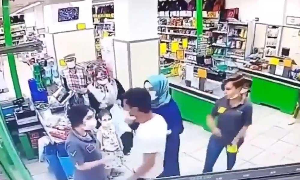 Her yer suç mahalli oldu! Markette kasiyerlere yumruklu saldırı