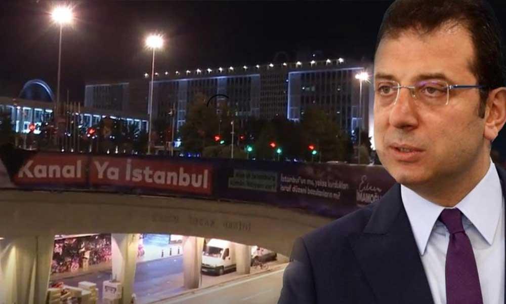 Kanal İstanbul afişlerinin polisler tarafından sökülmesine İmamoğlu'ndan sert tepki