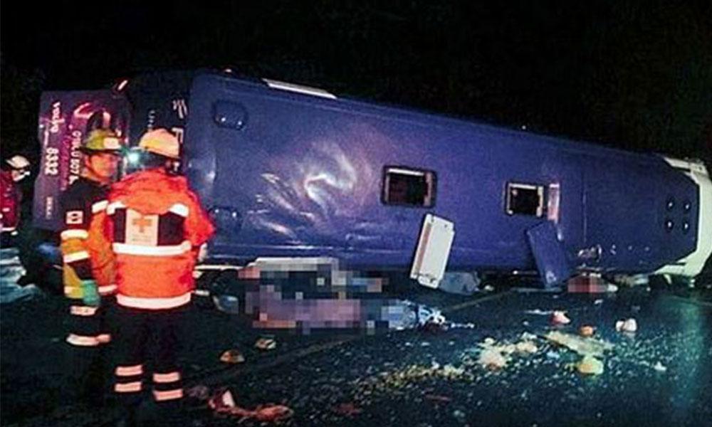 Meksika'da otobüs devrildi: 13 ölü