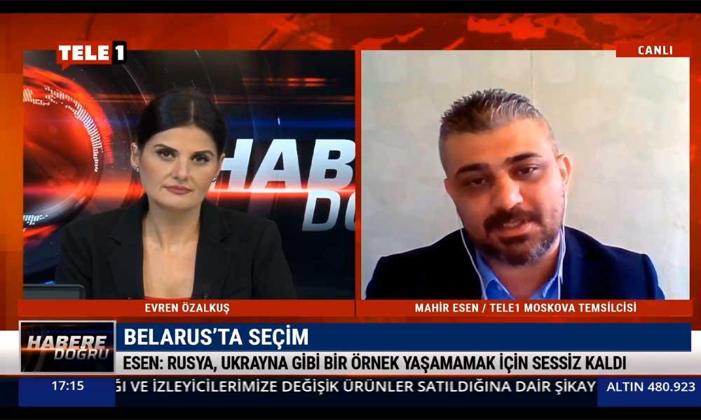 Mahir Esen, Belarus'taki son gelişmeleri TELE1'e aktardı