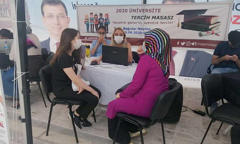 CHP'li gençlerden üniversite adaylarına tercih danışmanlığı hizmeti
