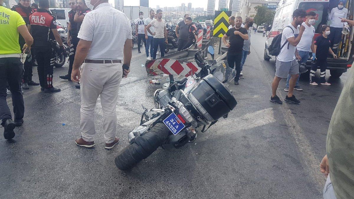 İstanbul'da motosikletli polisler kaza yaptı: İki yunus polisi ağır yaralı