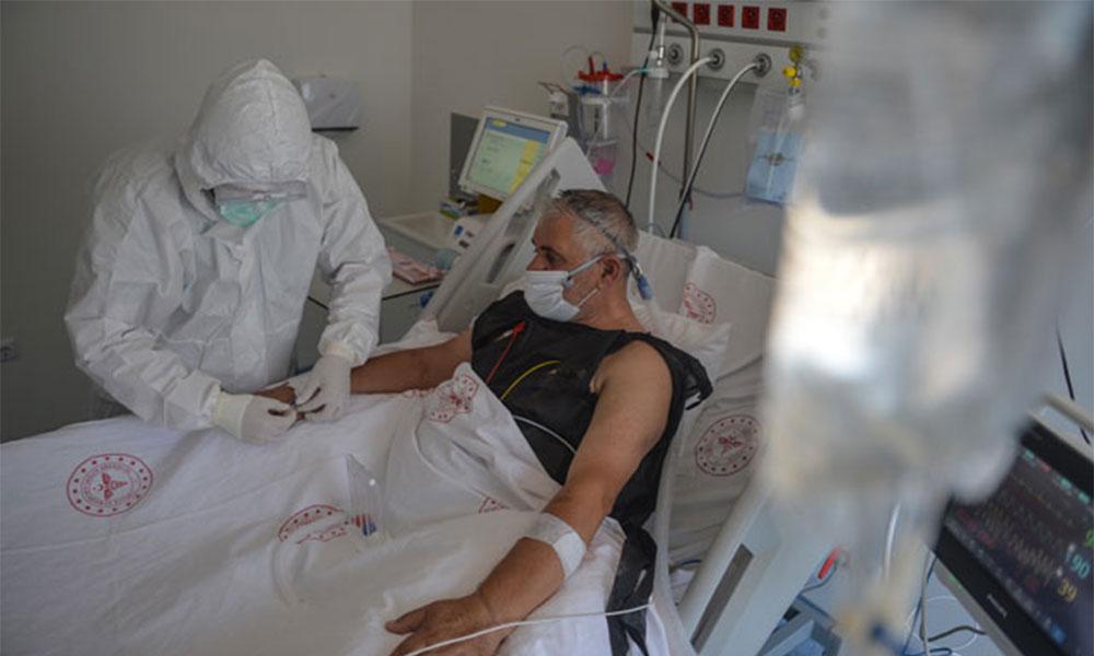 Pandemi hastanesinin yoğun bakım ünitesi görüntülendi
