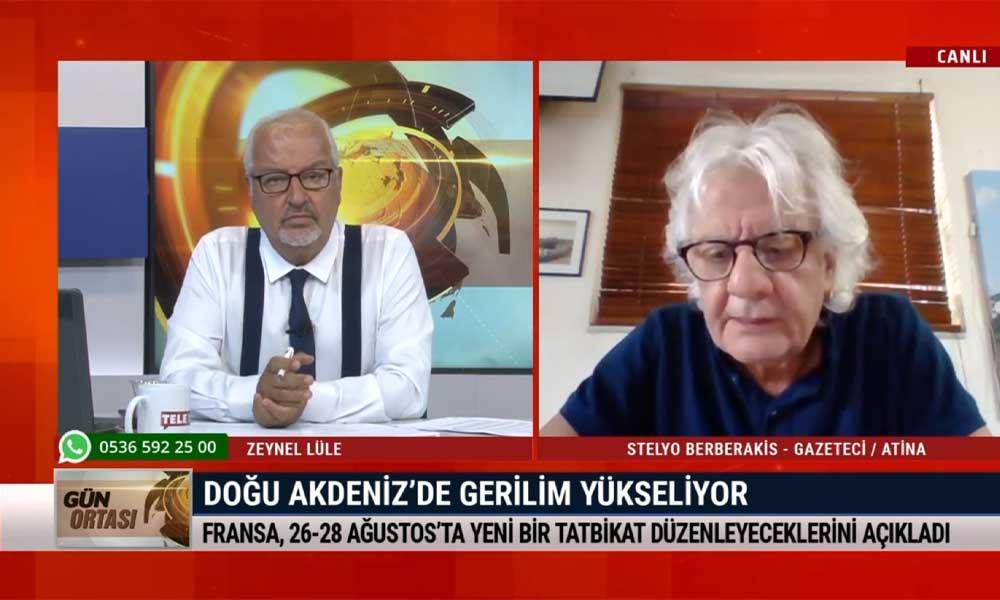 Gazeteci Stelyo Berberakis: Oruç Reis'in çalışma süresinin uzatılması tansiyonun düşmeyeceğini gösteriyor