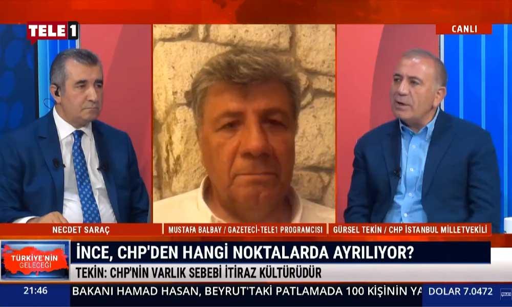 Gürsel Tekin: CHP'nin varlık sebebi itiraz kültürüdür