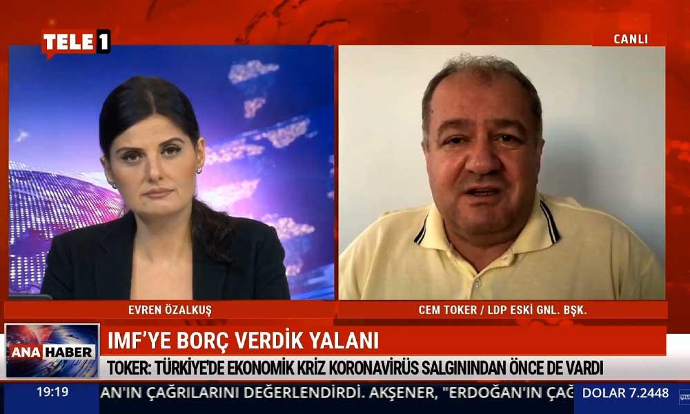Cem Toker: IMF'ye borcu AKP değil, vergileriyle Türk milleti sıfırladı