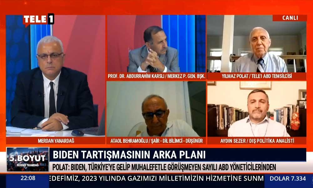TELE1 Washington Temsilcisi Yılmaz Polat, Joe Biden ve AKP arasındaki ilişkiyi ilk kez TELE1'e açıkladı