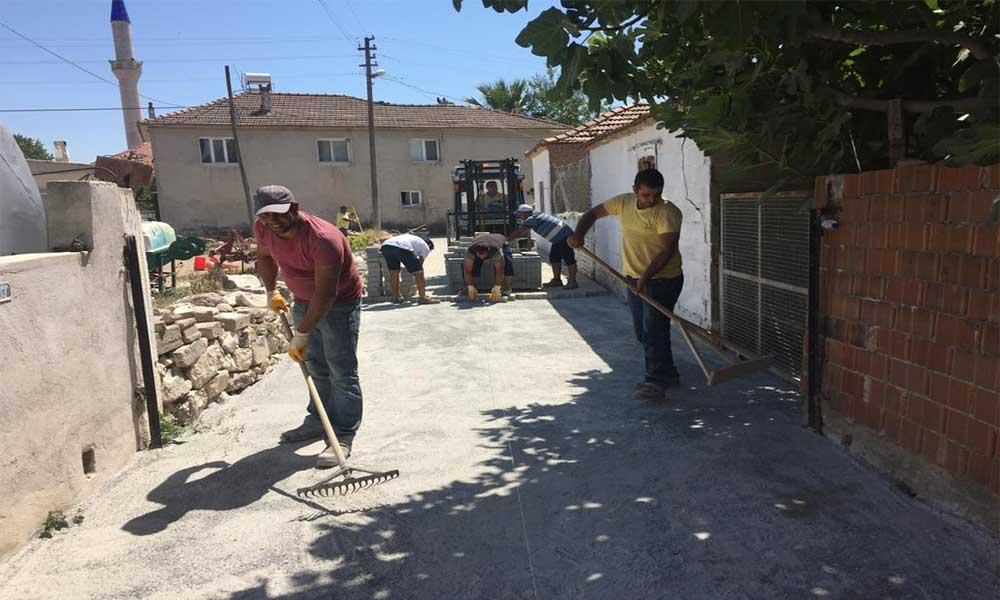 Didim Belediyesi'nin yol yapım çalışmaları devam ediyor