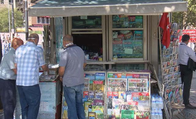İstanbul'da gazete bayilerine zam