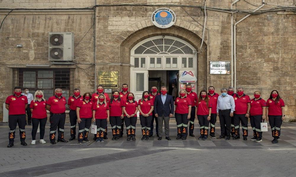 Başkan Seçer İtfaiye Haftası'nda itfaiye personellerini ağırladı