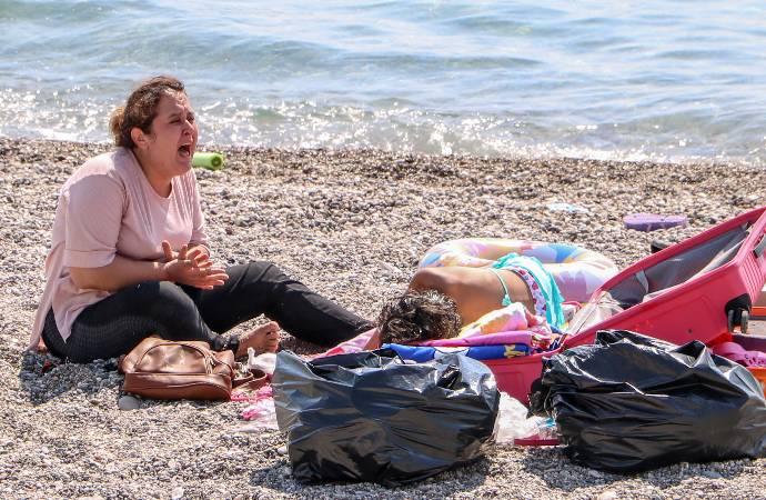 """Covid-19 hastası plaja gitti; """"Ölmek istemiyorum"""" diye bağırdı"""
