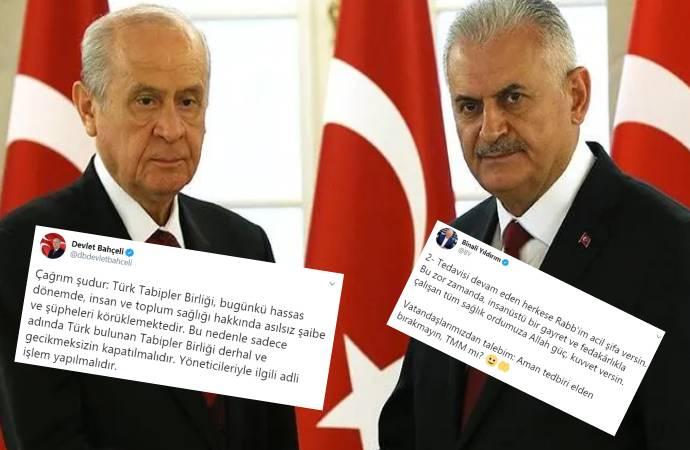 Bahçeli'nin hedef aldığı doktorlara AKP'li Binali Yıldırım sahip çıktı