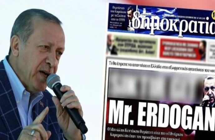 Erdoğan'ın suç duyurusunda bulunduğu Yunan gazete hakkında soruşturma başlatıldı