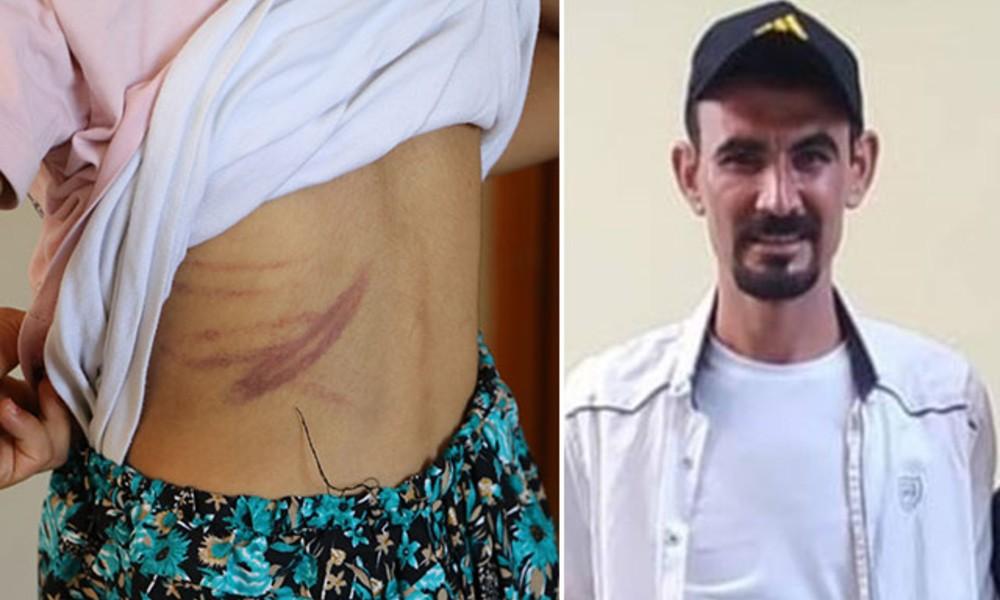 Eşini ve 4 çocuğunu kemer ve sopayla dövdü!