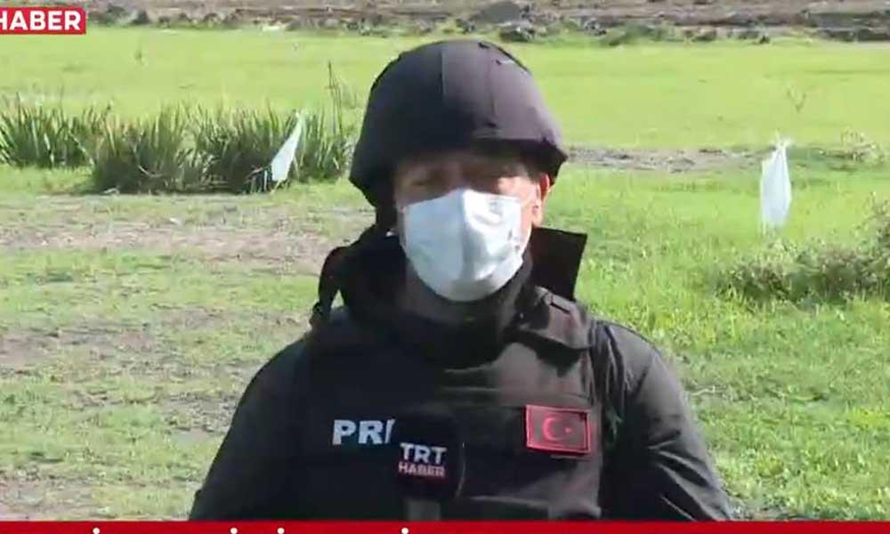 TRT muhabirleri havan toplarından son anda kurtuldu