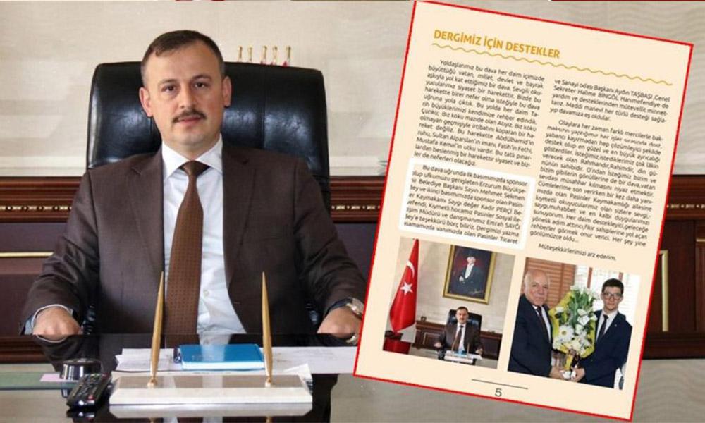 Pes! Kaymakam AKP'nin dergisine sponsor oldu