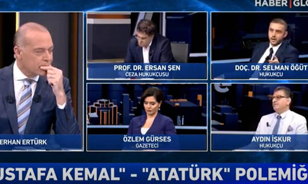 Haber Global'de ortalık karıştı! Atatürk düşmanı Selman Öğüt canlı yayını terk etti