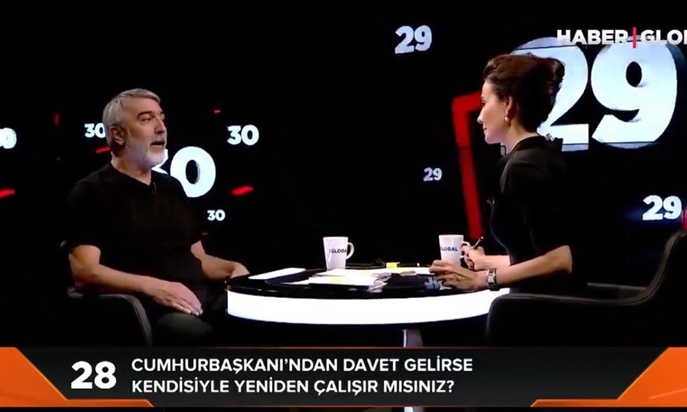 Jülide Ateş'in programına konuk olan Erkan Mumcu'ya Haber Global'dan sansür!