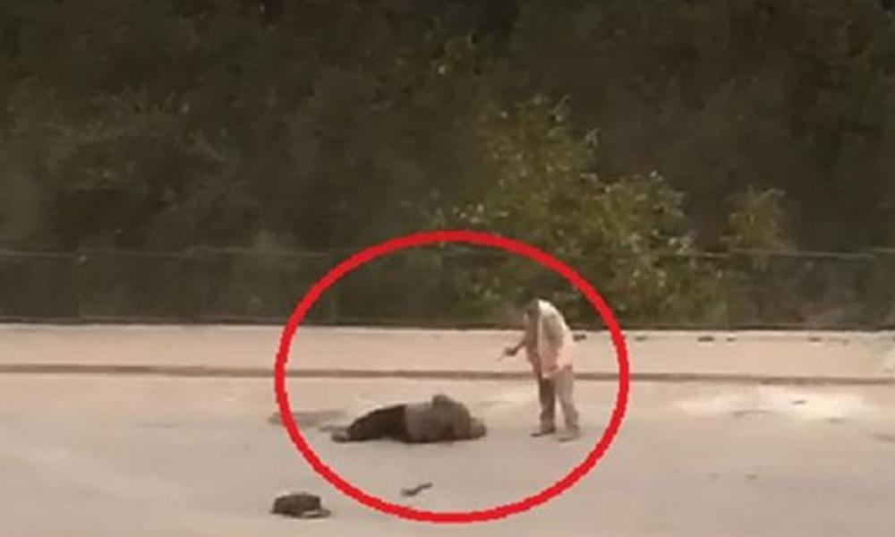 Dehşet anları! Cani koca sokak ortasında eşine kurşun yağdırdı