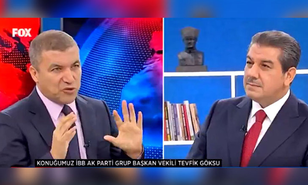AKP'li Tevfik Göksu'nun FOX TV canlı yayınında zor anları!