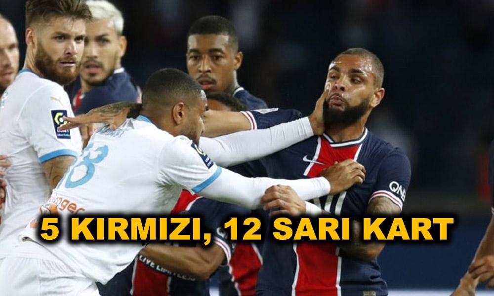 PSG-Marsilya maçında tarihi kavga! Neymar çılgına döndü