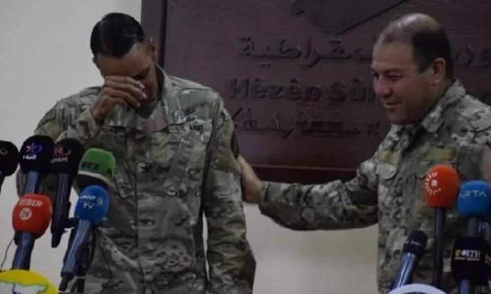 ABD'li komutan YPG'ye destek veremeyeceği için ağladı