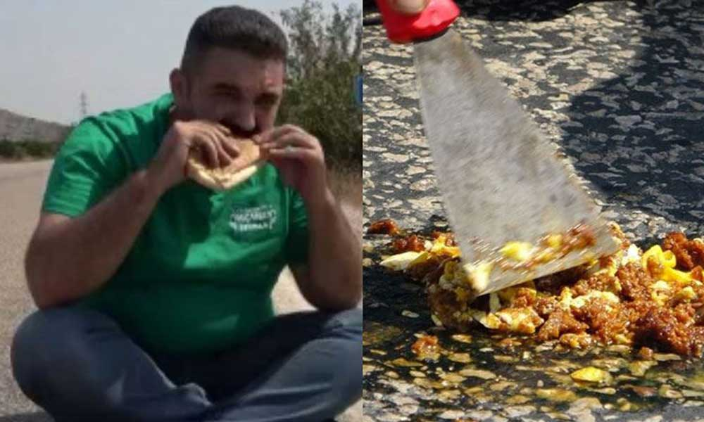 Asfaltta sucuk ekmek pişiren esnaf: Güneşe ateş eden arkadaşlar sıcaktan bunaldı, evden çıkamadı