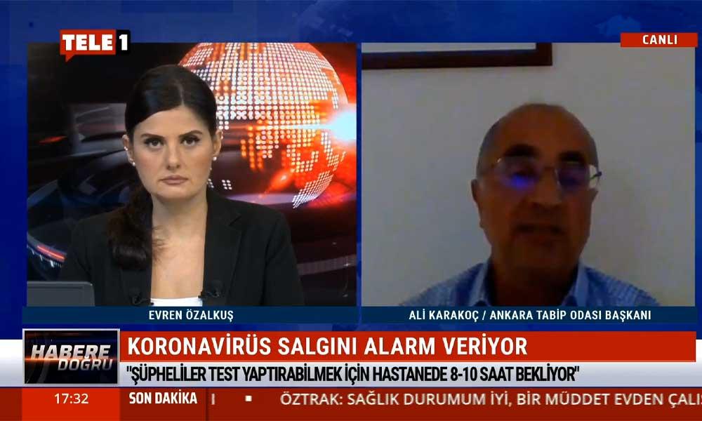 """""""Ankara'da günlük 4 bin pozitif koronavirüs vakası var"""""""