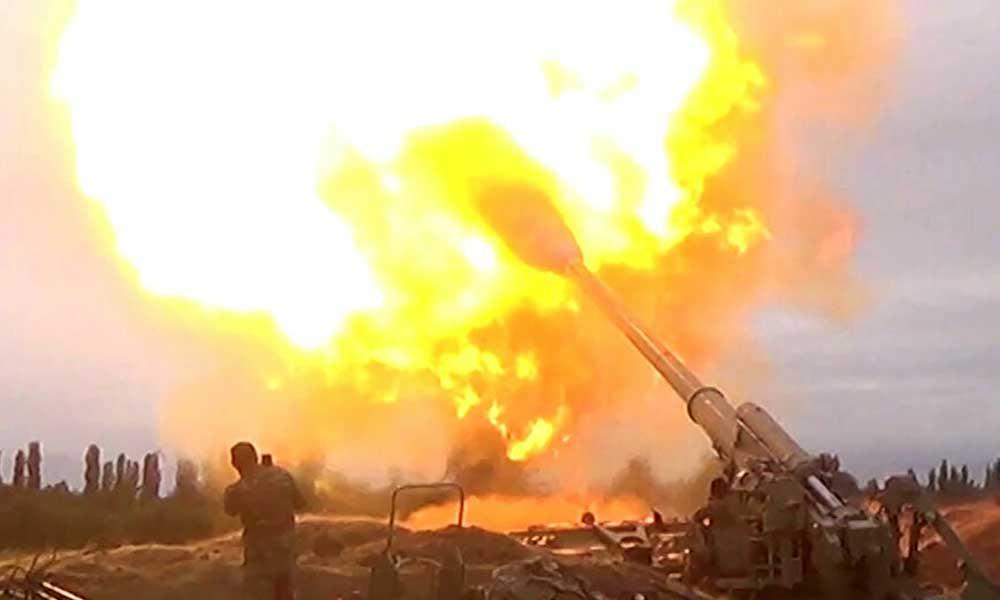 Azerbaycan Savunma Bakanlığı: Ermenistan'a ait tank ve toplar yok edildi