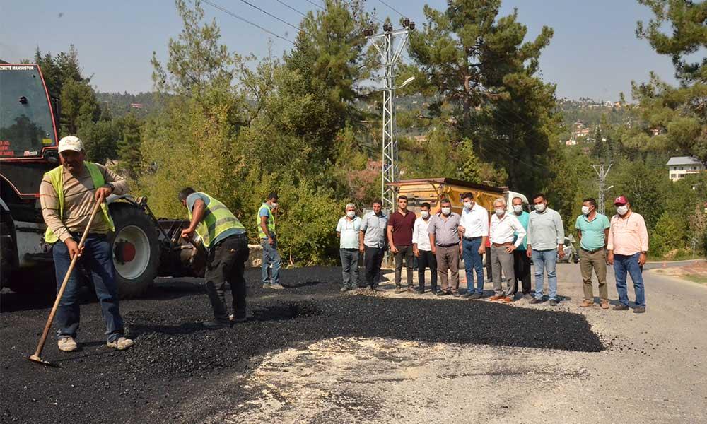 Mersin Büyükşehir ilçelerde asfalt atağını sürdürüyor