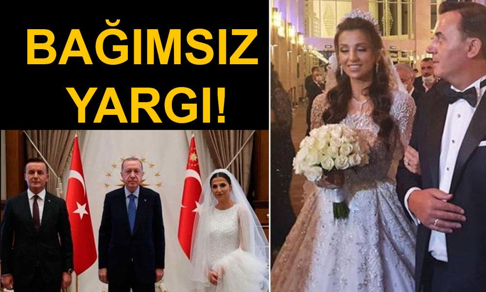 Demirtaş'ın tahliyesini engelleyen Başsavcı evlendi, soluğu Saray'da aldı! Eşi gelinlik değiştirdi