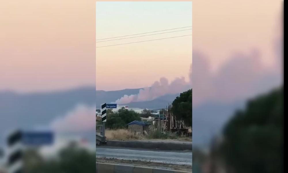 İzmir Bergama'da yangın
