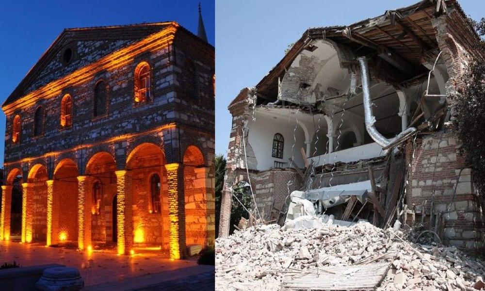 'Cami yapacağız' denilerek belediyeye devredilmeyen tarihi kilise bakımsızlıktan yıkıldı