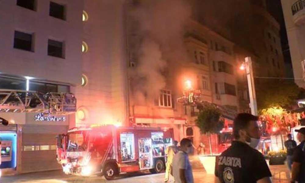 Taksim Meydanı'nda bulunan Kırgizistan İstanbul Başkonsolosluğu'nda yangın