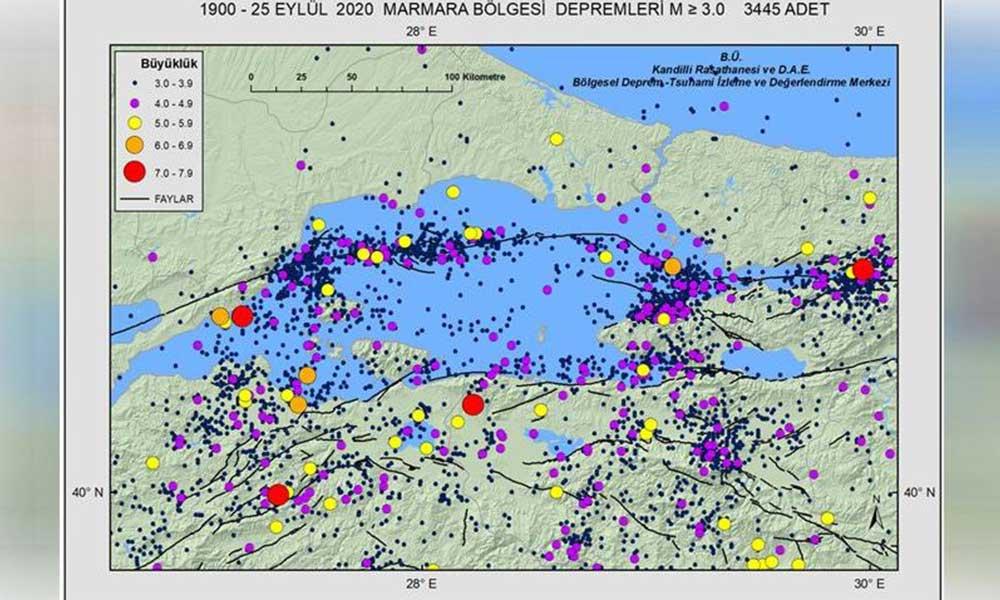 Deprem riski bu haritada
