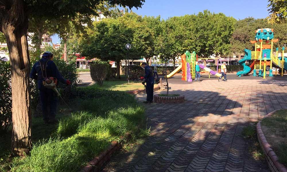 Didim Park Bahçeler Müdürlüğü ekipleri çalışmaları sürdürüyor