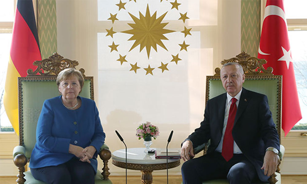 Erdoğan Merkel ile görüştü: Avrupa devletleri Doğu Akdeniz meselesinde adil ve tutarlı olmalı