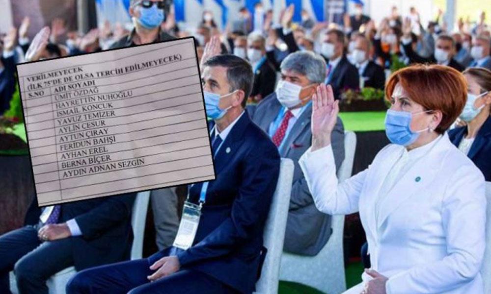 İYİ Parti'den 'oy verilmeyecekler listesi' iddialarına yanıt: 'Delegenin takdirine kimse karışamaz'