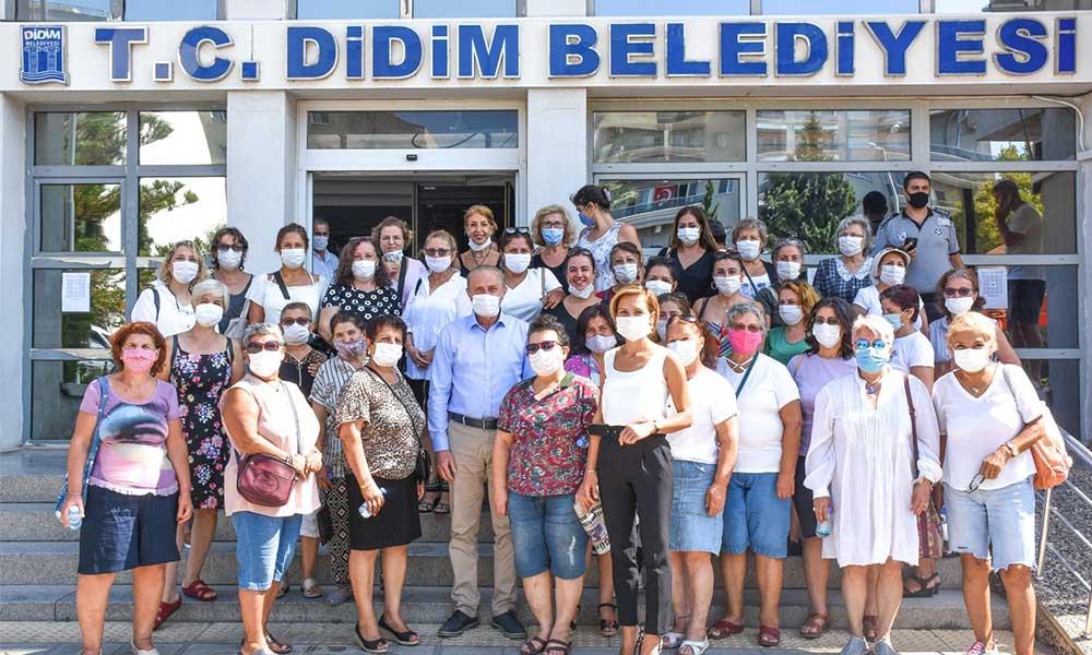 Didim Kuen Kadın Girişimi Üretim ve İşletme Kooperatifi'nden Başkan Atabay'a destek