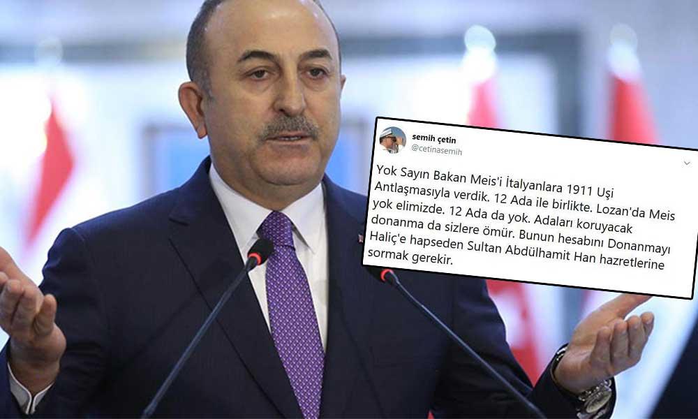 Lozan'ı hedef alan Mevlüt Çavuşoğlu'na Emekli Amiral'den tarihi cevap