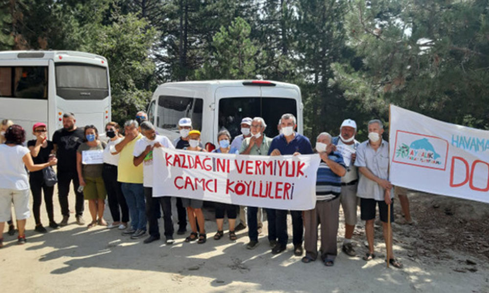 Kazdağları'nda maden talanının ardından RES işgali
