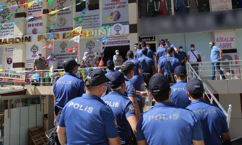 HDP'nin 'gözaltı' açıklamasına polis engeli