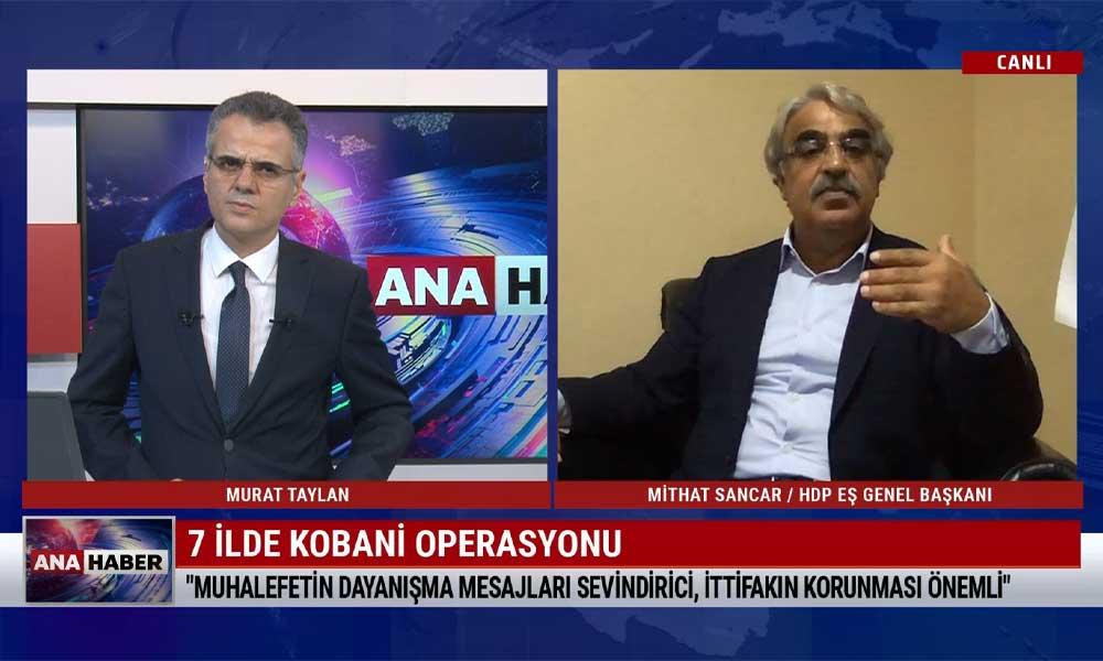 HDP Eş Genel Başkanı Mithat Sancar: İktidar tüm muhalefeti susturmanın ilk hamlesini yaptı