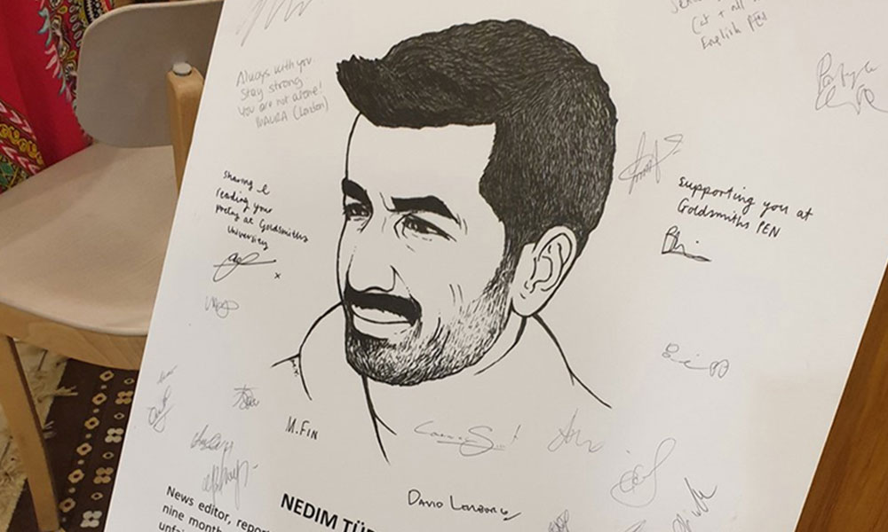 PEN'den tutuklu gazeteci Nedim Türfent'e onur üyeliği