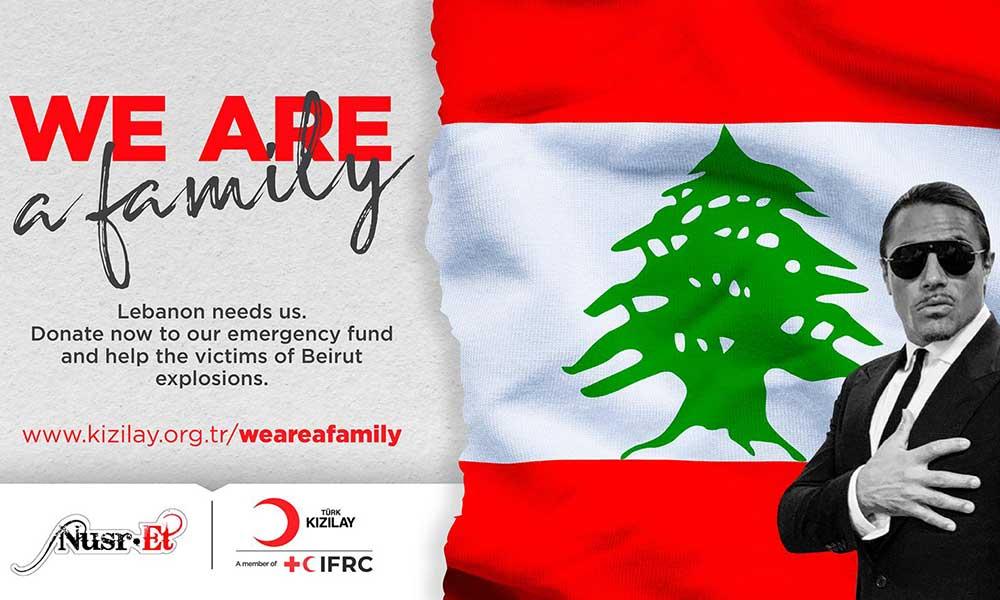 Nusret'ten 'Beyrut' kampanyası: Dünya çapında tanınan isimlerden destek geldi!