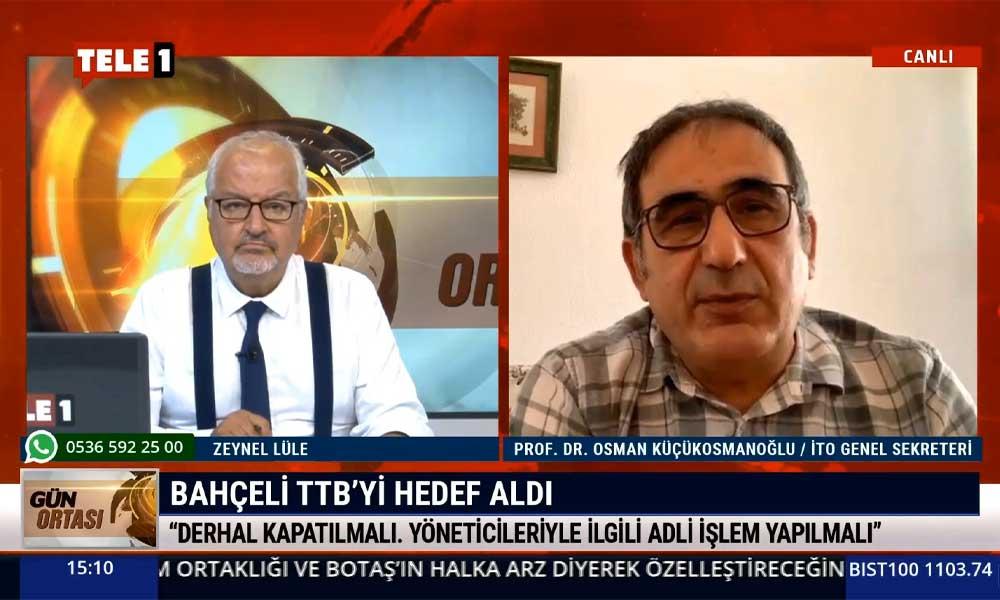 Prof. Dr. Osman Küçükosmanoğlu: Bu salgının daha iyi yönetilmesini istiyoruz