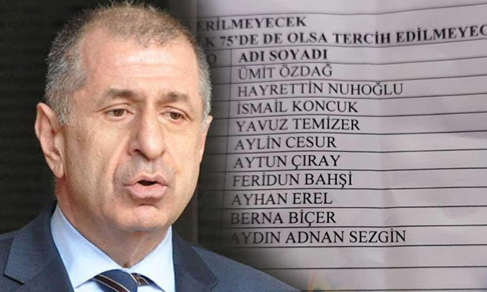 Ümit Özdağ'dan çok sert 'liste' tepkisi